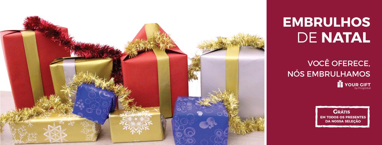 Este ano só tem que escolher o presente. Nós oferecemos o embrulho.
