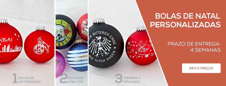 Bolas de Natal personalizadas: Ofereça um brinde de coleção único