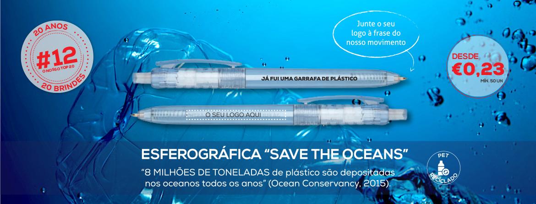 Esferográfica Save The Oceans: Ajude-nos a retirar o plástico dos oceanos