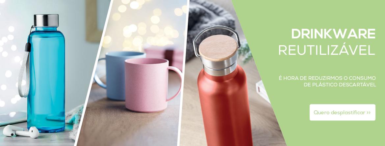 Drinkware reutilizável: Reduza o consumo de plástico descartável connosco
