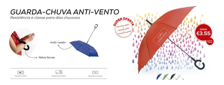 Guarda-chuva anti-vento: Resistência e classe para dias chuvosos - Oferta impressão