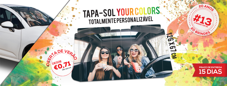 Tapa-Sol Your Colors: Uma explosão de cores para promover a sua marca